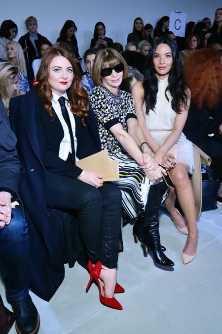 Samantha Barry, Anna Wintour y Olivia Munn