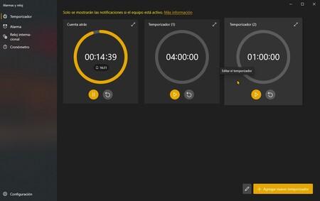 La aplicación Alarmas y reloj de Windows 10 nos anticipa el rediseño que traerá consigo Sun Valley
