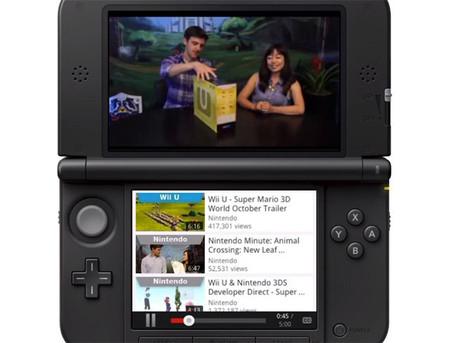 La aplicación de YouTube llega oficialmente al Nintendo 3DS