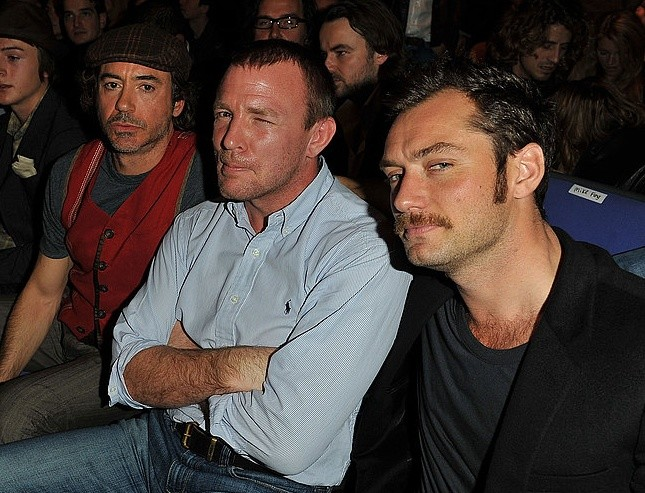Robert Downey Jr., Guy Ritchie y Jude Law