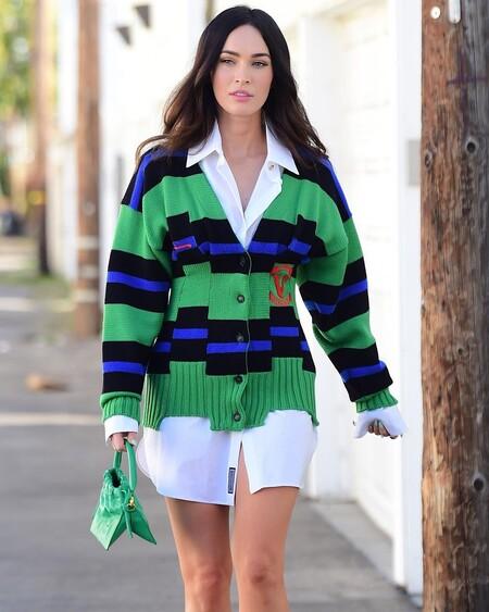Cinco cárdigans de rayas a todo color que el último look de Megan Fox nos ha hecho desear lucir esta primavera