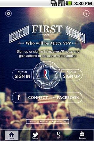 Mitt Romney desvelará su candidato a Vicepresidente en una aplicación para móviles