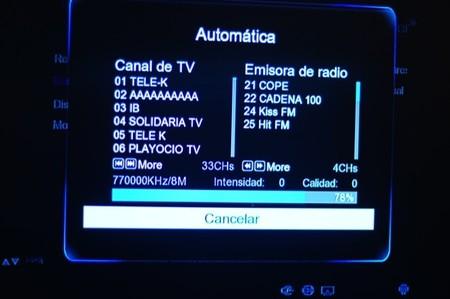 Sintonización de las emisoras de TV y Radio TDT