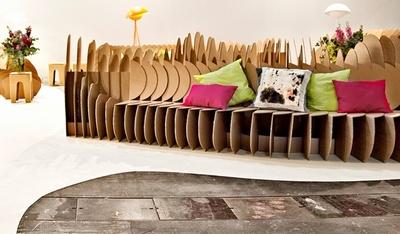 Cardboard Fun, homenaje al cartón en la sala de presentaciones de ARCO