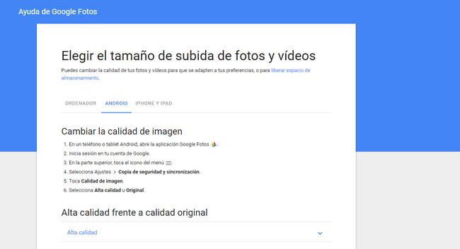 Alta Calidad Calidad Original Google Fotos