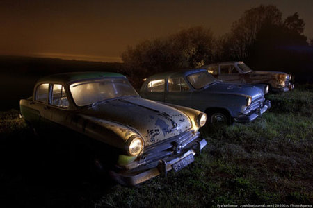 Coches abandonados en Rusia