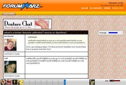 Forumwarz - Trolleando que es gerundio