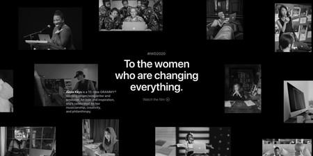 Apple celebra el Día Internacional de la Mujer con una página de inicio interactiva y un reto para Apple Watch