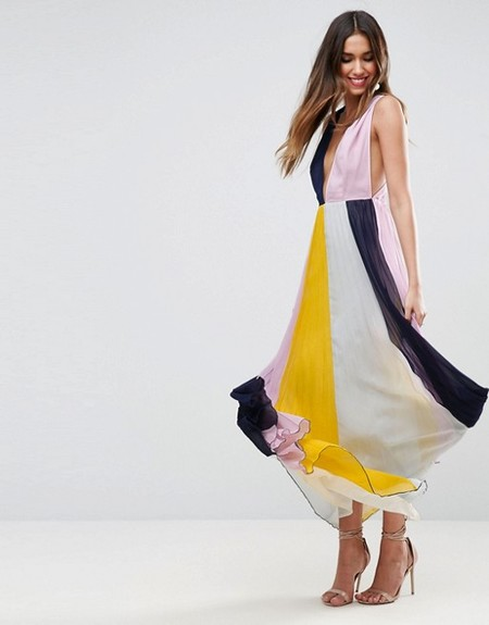 Vestido colour block