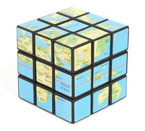 Aprende geografía con el cubo Rubik