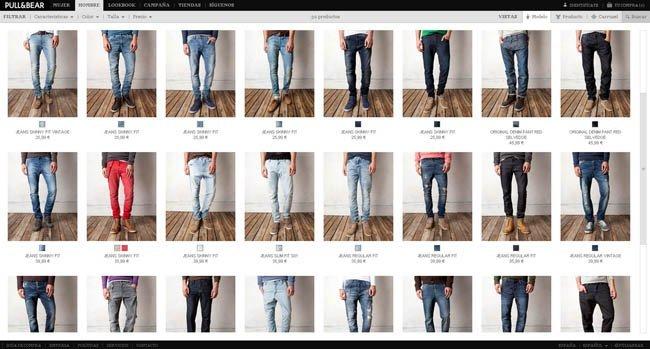 Vaqueros Pull and bear tienda online