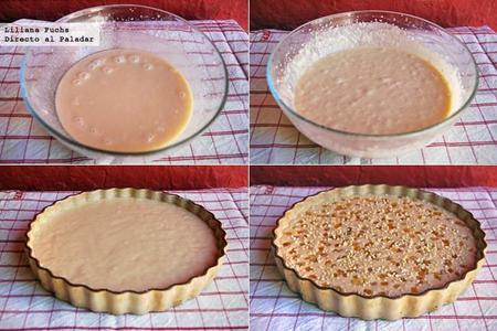 Cake Yogur Cabra Almendra Pasos