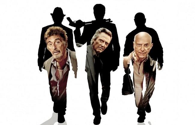 Imagen con el cartel de la película 'Tipos legales'