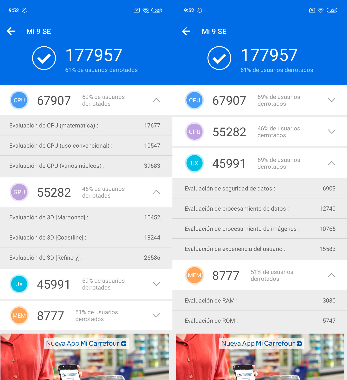 Foto de Xiaomi Mi 9 SE, benchmarks (1/6)