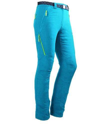 Pantalón técnico de mujer para montaña  Izas Stretch Birham color turquesa rebajado a 22,45 euros en Amazon