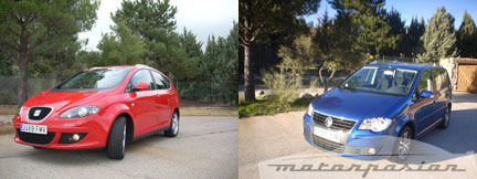 SEAT Altea XL y Volkswagen Touran