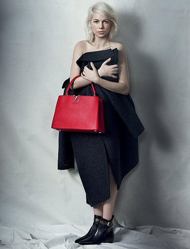 Michelle Williams se desnuda para la última campaña del bolso Capucine de Louis Vuitton