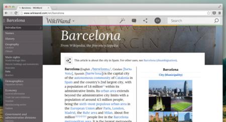 WikiWand: nunca volverás a ver la Wikipedia del mismo modo
