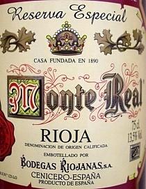 Monte Real Reserva Especial 1998