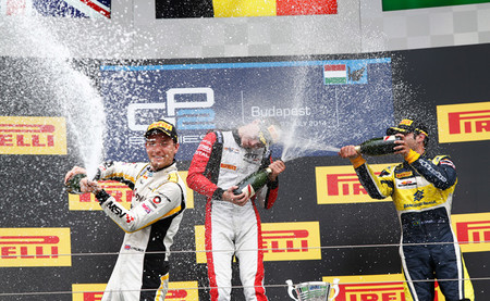 Podio GP2 Hungaroring 2014 Carrera 2