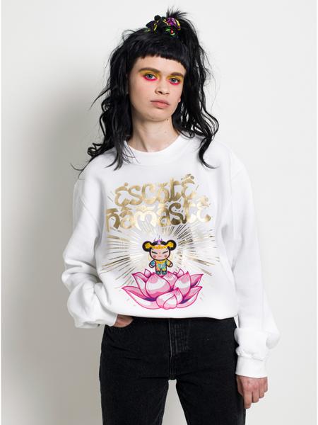 Namaste White Sweatshirt maria escote pucca