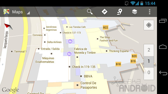 Mapas interiores en Google Maps