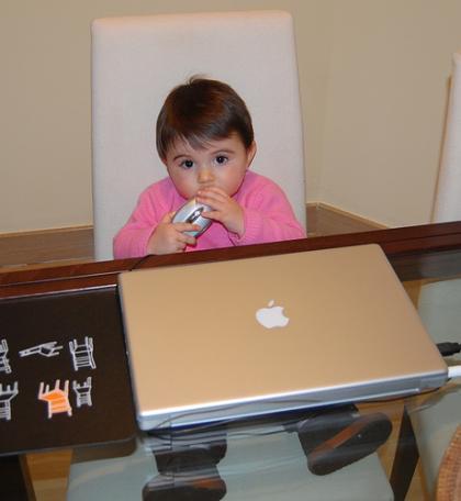 La foto de tu bebé, la Mac de papá