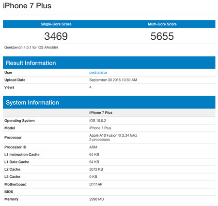 Geekbench Iphone 7 Plus Applesfera Analisis