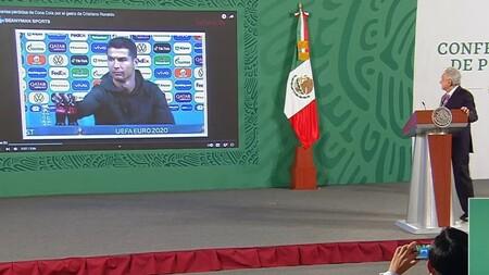 AMLO utiliza video de Cristiano Ronaldo en mañanera para dar un ejemplo de la alimentación saludable que se busca en México