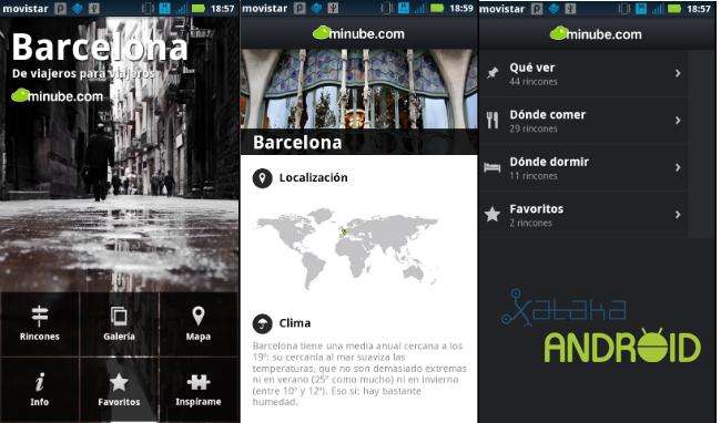 guias de viaje android minube