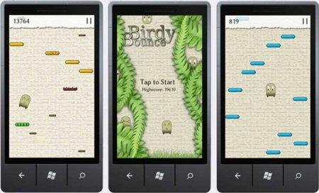 Birdy Bounce, el Doodle Jump de Windows Phone 7