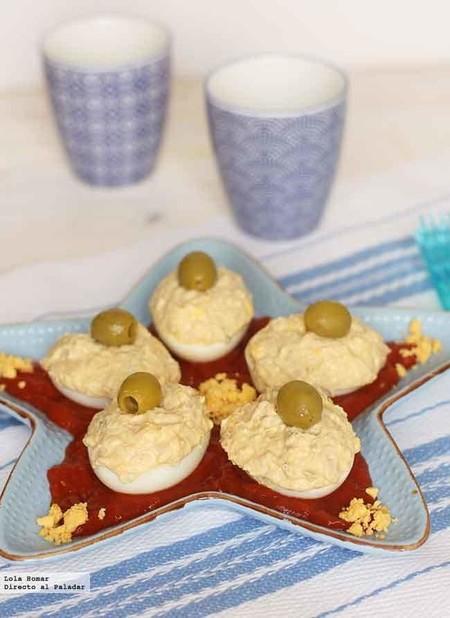 Huevos rellenos de atún y mayonesa casera: la receta definitiva