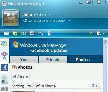 Facebook en MSN Messenger