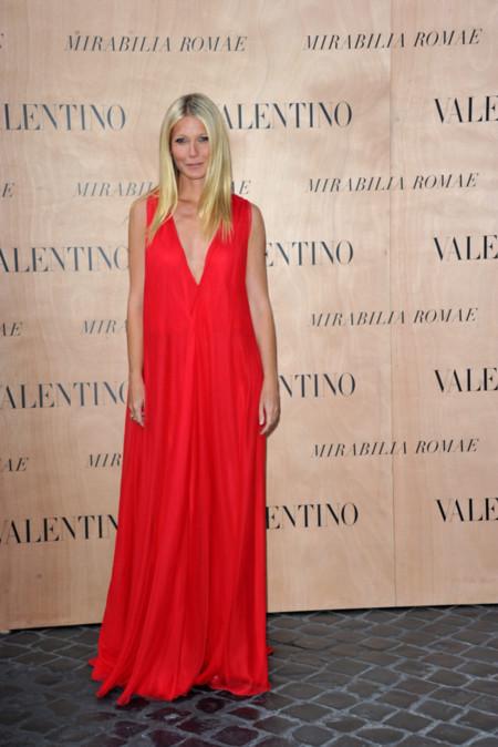 Un vestido rojo de Valentino