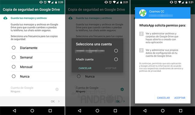WhatsApp and Google Drive