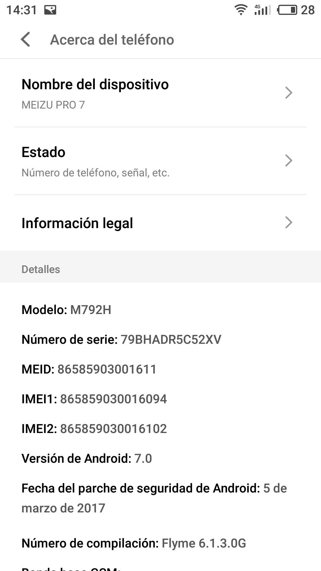 Meizu Pro 7 software
