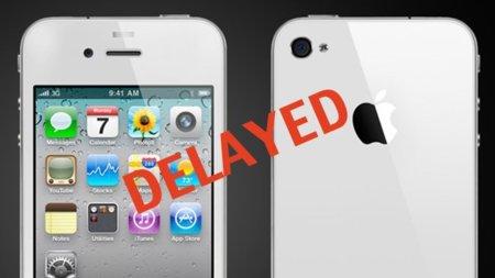 Nuevo retraso en el iPhone Blanco