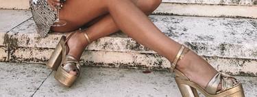 Sandalias doradas:  11 modelos para lucir en las noches de verano
