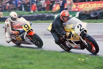 ROn Haslam y Kenny Roberts