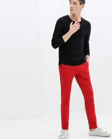 Zara pantalon rojo