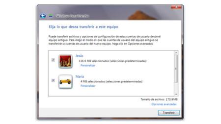 Recuperando archivos con Windows Easy Transfer