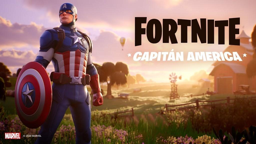 La skin del Capitán América ya está disponible en la tienda de Fortnite