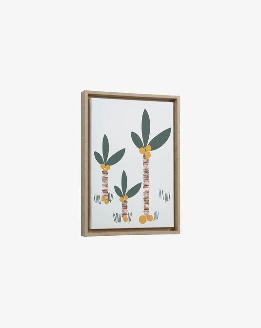 Cuadro Uriana palmeras multicolor 30 x 42 cm