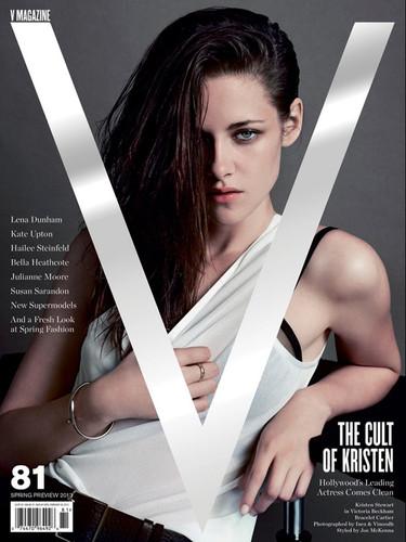 Kristen Stewart, cuando la indiferencia es sexy en la portada de V