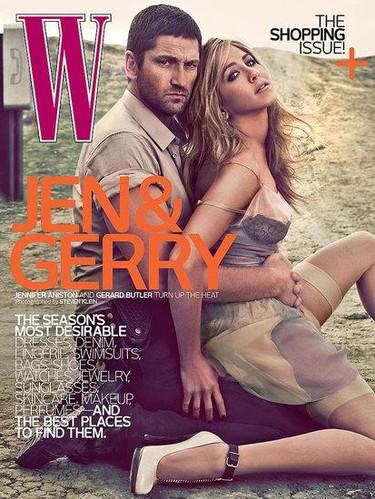 Jennifer Aniston y Gerard Butler súper sexys en W Magazine