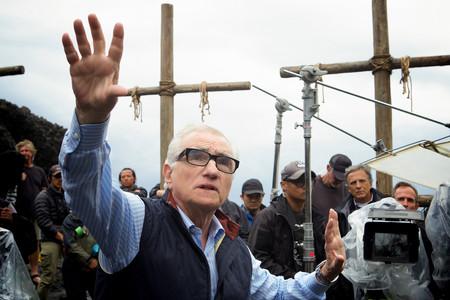 Scorsese durante el rodaje de Silencio