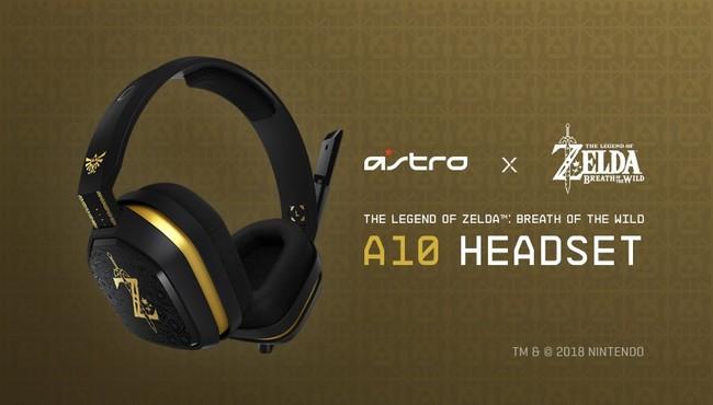 Así son los auriculares Astro A10 de Zelda: Breath of the Wild para Switch con licencia oficial de Nintendo