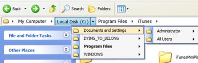 QT AdressBar, la barra de direcciones del Explorer de Vista en Windows XP