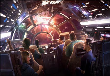 Halcon Milenario simulador Disney