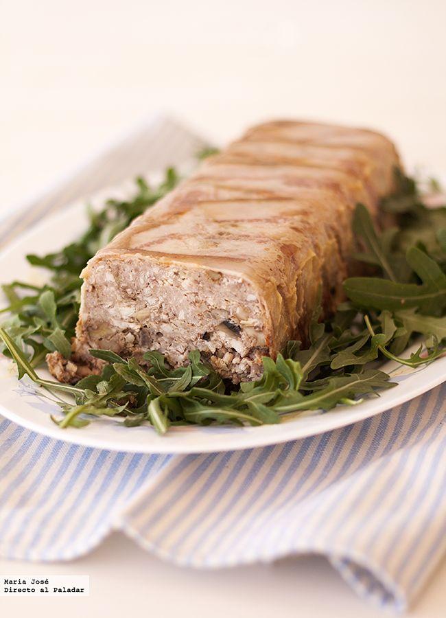 Terrina de carne champi ones y nueces receta - Ideas para cena de nochebuena ...